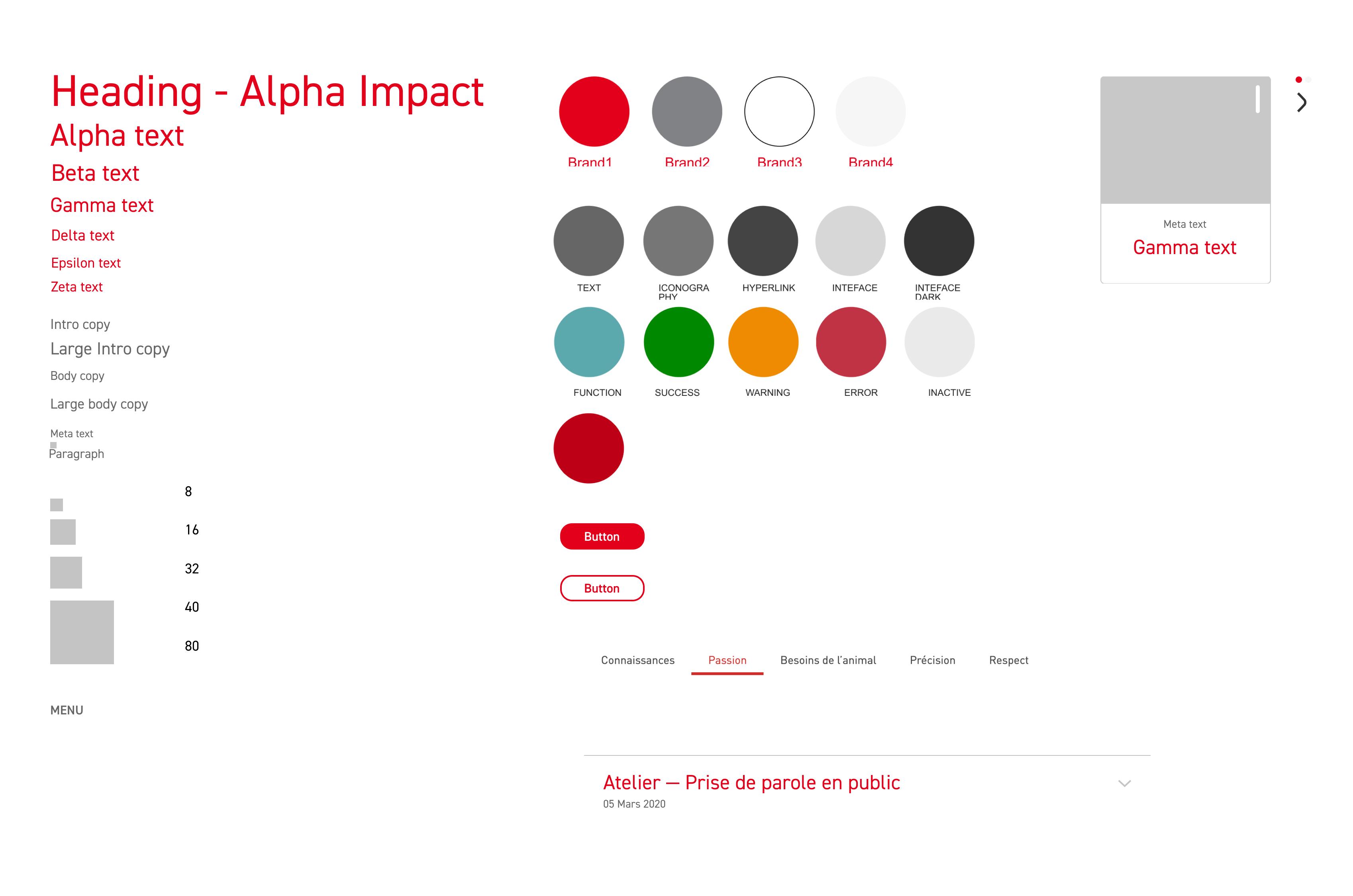 Guide visuelle d'un Design System
